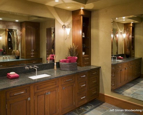 custom bath cabinetry and countertops