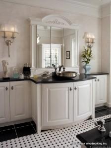 custom bathroom cabinetry design