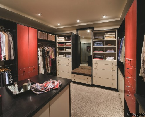 hand-crafted wood closets