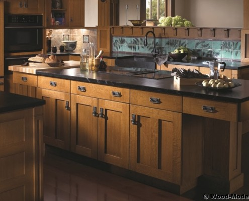 wood-mode custom kitchen cabinets