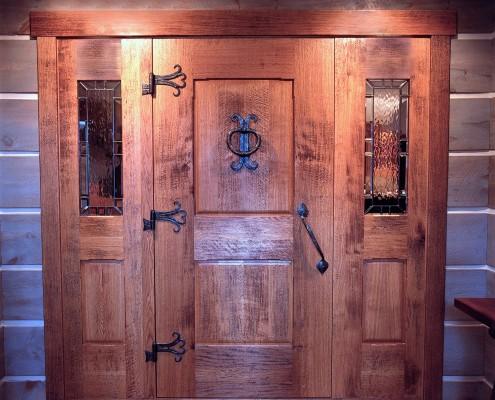 custom oak doors